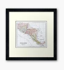 Vintage Map of Central America Framed Print