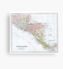 Vintage Map of Central America Canvas Print