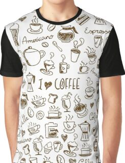 Coffee Doodles Graphic T-Shirt