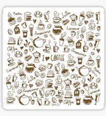 Coffee Doodles Sticker