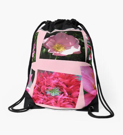 Pink Flowers of Summer Collage Turnbeutel