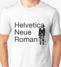 Helvetica Neue Romantic Unisex T-Shirt