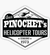 Pinochet Helicopter Tours - All Leftists Fly for Free!  Sticker