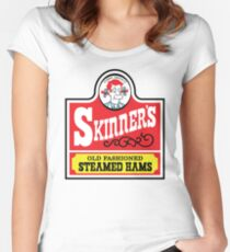 Skinner's Old Fashioned Steamed Hams Women's Fitted Scoop T-Shirt