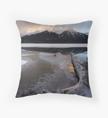 Winter Vermillion Throw Pillow