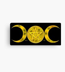 MOONS OF WICCA Canvas Print