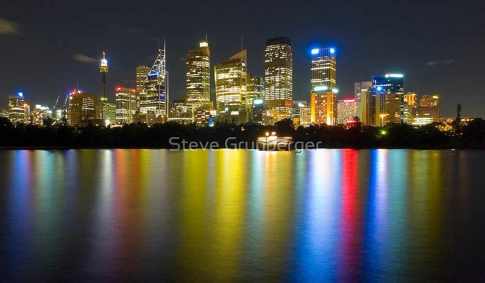 Sydney City @ Night by Steve Grunberger