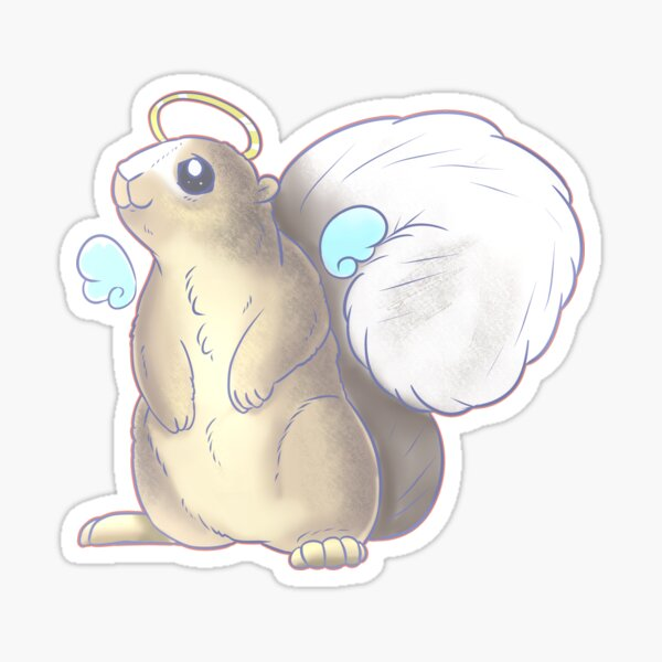 White Tailed Squirrel Sticker