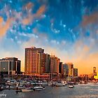 Sunset at Dockland by Froggie