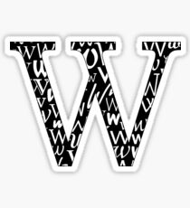 W Filled   Typography Sticker