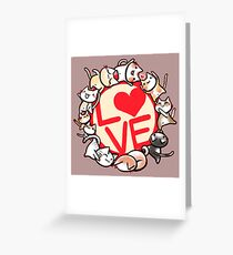 Love cats Greeting Card