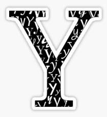 Y Filled   Typography Sticker