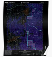USGS TOPO Map Colorado CO Blacktail Mountain 400159 2000 24000 Inverted Poster