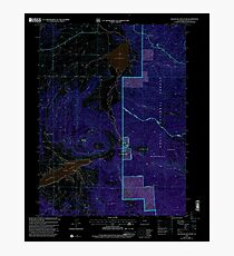 USGS TOPO Map Colorado CO Blacktail Mountain 400159 2000 24000 Inverted Photographic Print