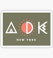 Adirondacks New York Geometric Design Sticker
