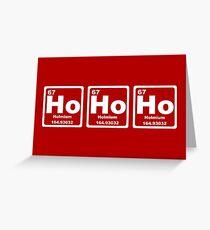 Ho Ho Ho - Weihnachten - Weihnachtsmann - Periodensystem Grußkarte