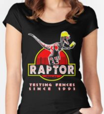Raptor. Testing fences since 1993. Women's Fitted Scoop T-Shirt