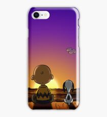Snoopy and Charlie Brown Looking Sunset iPhone Case/Skin