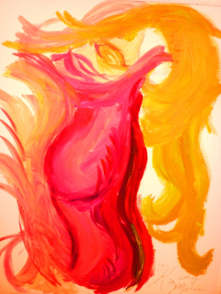 Woman In Red - Oil Painting by alphaartists