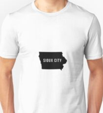 Sioux City, Iowa State Silhouette T-Shirt