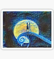 Jack and Sally's Starry Night Sticker