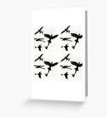Toothless Pattern Greeting Card