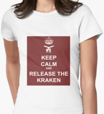 Keep Calm and Release the Kraken Womens Fitted T-Shirt