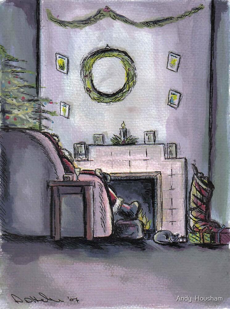 Santa resting on Xmas Eve by Andy  Housham