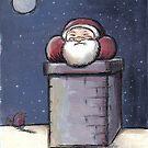 Santa stuck in the Chimney by Andy  Housham