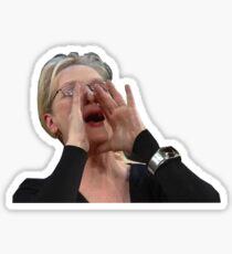 Meryl Streep Yelling Sticker