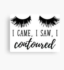 I Came I Saw I Contoured  Canvas Print