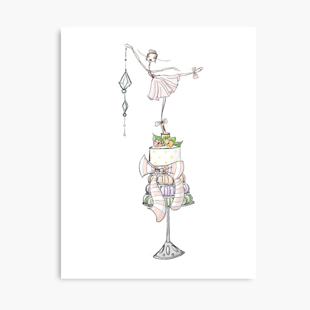 Happy Birthday Ballet Card Canvas Print