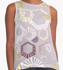 Hexagons Seamless Repeating Pattern on Purple Contrast Tank
