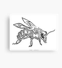 """Bee Spirit"" ver.1 - Surreal abstract tribal bee totem animal Metal Print"