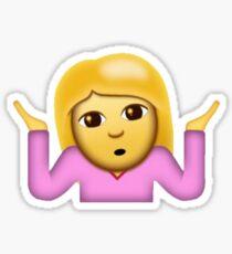 "Girl ""What?"" Emoji Sticker"