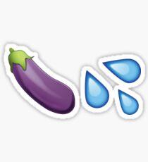 Sexting Eggplant Emoji Collection Sticker