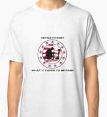 Fallen Soldier  Never Forget Classic T-Shirt