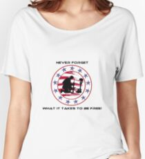 Fallen Soldier  Never Forget Women's Relaxed Fit T-Shirt