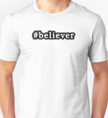 Believer - Hashtag - Black & White T-Shirt