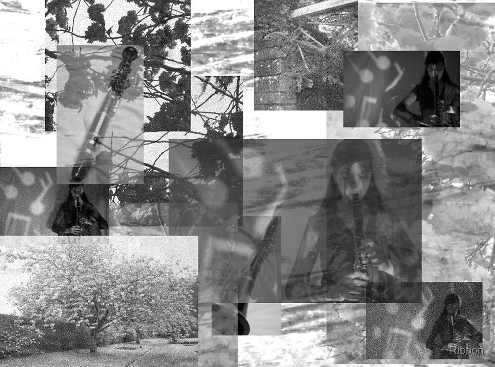 The Clarinet Player Music Collage by Ribbon