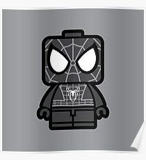 Black Spidey Chibi Man Poster