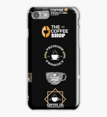 Coffee Labels Collection iPhone Case/Skin