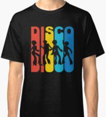 1970 S Style Rainbow Disco Dancers T Shirt Classic T-Shirt