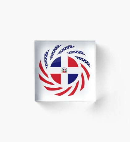 Dominican American Multinational Patriot Flag Series Acrylic Block