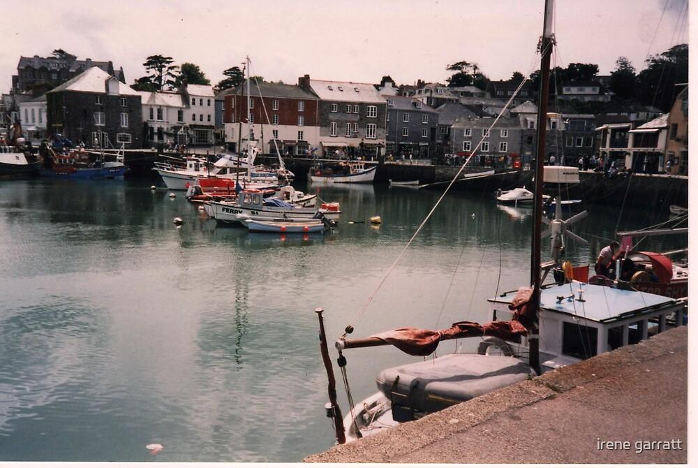 Harbour scene from Padstow in Cornwall by irene garratt