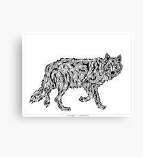 """Wolf Spirit"" - surreal tribal totem animal Canvas Print"