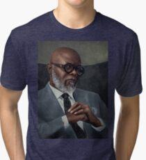 Samuel L. Jacson - Portrait Tri-blend T-Shirt