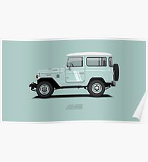 Land Cruiser FJ40 HardTop Blue Poster
