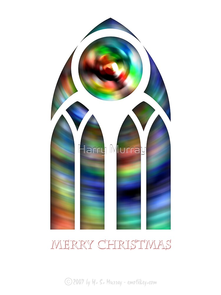 Goth Glass - Merry Christmas by Harry Murray