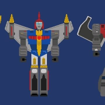 Dinobots Transformers Pixel Art by FussFreeMcGee